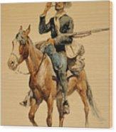 A Mounted Infantryman Wood Print