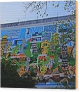A Mural On The San Antonio Riverwalk Wood Print