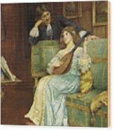 A Musical Interlude Wood Print