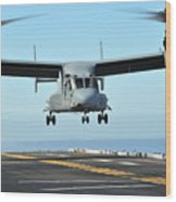 A Mv-22 Osprey Aircraft Prepares Wood Print