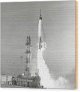 A Nasa Project Mercury Spacecraft Wood Print