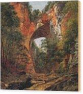 A Natural Bridge In Virginia Wood Print by David Johnson