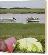 A Nauset Marsh View Wood Print