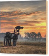 A New Day The Iron Horse Wood Print