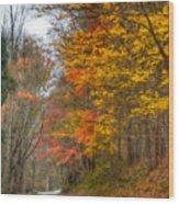 A Newport Autumn Wood Print