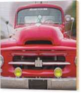 A Nice Red Truck  Wood Print