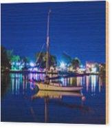 A Night At The Lake Wood Print