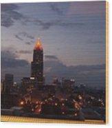 A Night In Atlanta Wood Print
