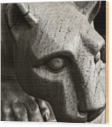 A Nittany Lion Wood Print