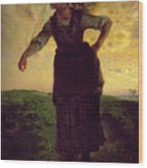 A Norman Milkmaid At Greville Wood Print