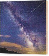 A Northern View Of The Milky Way Wood Print