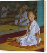 A Novice Monk In Rural Thailand Wood Print