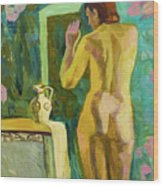 A Nude And Light Wood Print