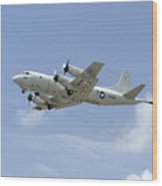 A P-3c Orion Aircraft Takes Wood Print