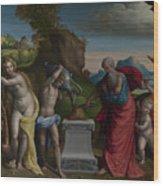A Pagan Sacrifice Wood Print