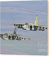 A Pair Of Bulgarian Air Force Sukhoi Wood Print