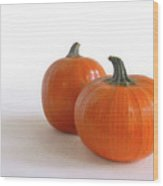 A Pair Of Pumpkins Wood Print