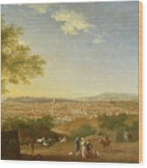 A Panoramic View Of Florence From Bellosguardo Wood Print