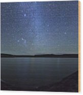 A Panoramic View Of The Milky Way Wood Print