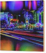 A Parallel Las Vegas Wood Print