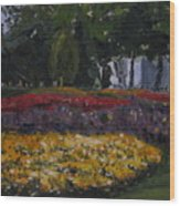 A Park in Cambrige Wood Print