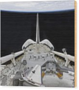 A Partial View Of Space Shuttle Wood Print by Stocktrek Images