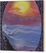 A Pastel Seascape  Wood Print