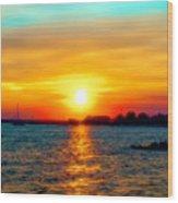 A Path To The Sun Wood Print