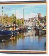A Peaceful Canal Scene - The Netherlands L A S With Decorative Ornate Printed Frame. Wood Print