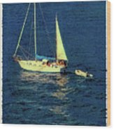 A Peaceful Day For Sailing Wood Print