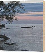 A Peaceful Sunset Wood Print