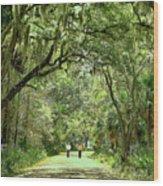 A Peaceful Walk Wood Print