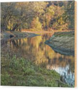 A Peak At Autumn Wood Print
