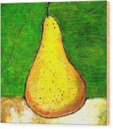 A Pear 2 Wood Print