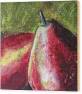 A Pear Wood Print