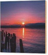A Pend Oreillle Sunrise Wood Print