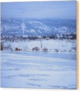 A Penticton Winter Wood Print