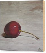 A Perfect Cherry Wood Print