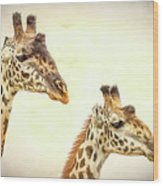 A Perfect Pair- Masai Giraffe Wood Print