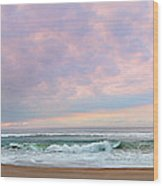 Panoramic Photograph Of A Peaceful Sunrise At Lake St Lucia In South Africa Wood Print