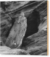 A Piece Of The Rock Wood Print