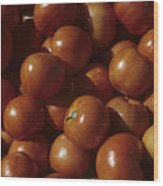 A Pile Of Tomatoes Stand Waiting Wood Print by Taylor S. Kennedy