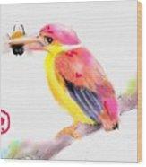 A Pink Rainbow Wood Print