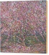 A Pink Tree Wood Print