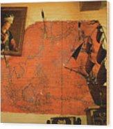A Pirates Map Room Wood Print