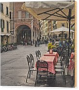 A Pisa Cafe Wood Print