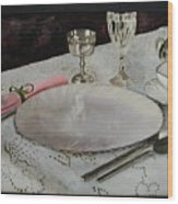 A Place Setting Wood Print