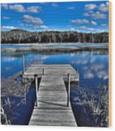 A Place To Dock On The Moose Wood Print