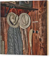 A Place To Keep My Hat Wood Print