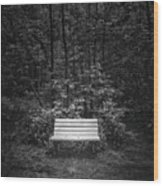 A Place To Sit Wood Print